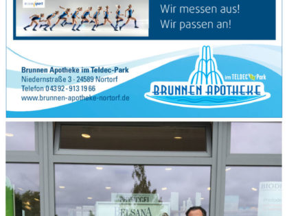 Gesundheitskompetenz in der neuen Brunnen-Apotheke im Teldec-Park