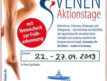 Venen-Aktionstage 22.-27.04.